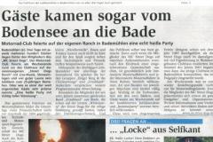 Sommerparty 2009 Zevener Zeitung